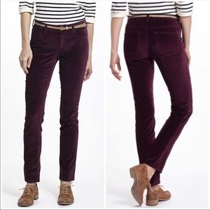 Anthropologie Pilcro Purple Velvet/ Velour Pants